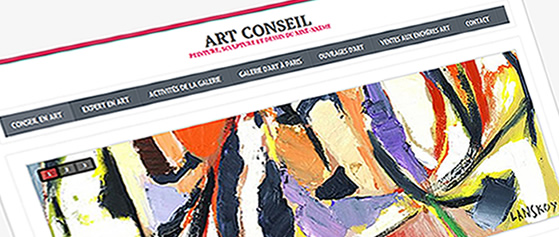 Creation des sites web pour les galeries d'art, sites pour les artistes. Création des sites multilingues web.